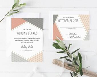 GEOMETRIC • printable wedding invitation suite