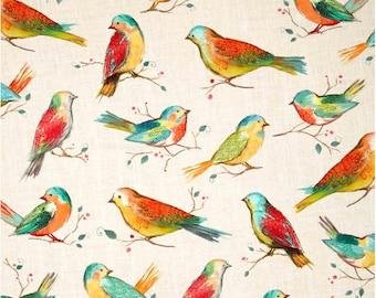 Hoffman Digital All A Twitter Birds Spring Fabric / All A-Twitter