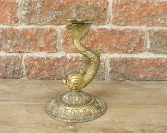 Lampe, Dauphin, Dauphin lampe, partie de lampe en métal, lampe Vintage pièces, l'éclairage, projet de Kraft, réutiliser, carpe koi, Dauphin Vintage