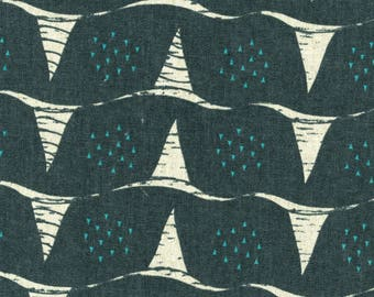 Corn in B-Dark (Cotton Linen Canvas Fabric) by Fabrika Uka from the Tayutou collection for Kokka #kokjg-50900904-B by 1/2 yard