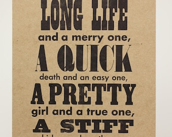 Long Life & Whiskey Motivational Poster
