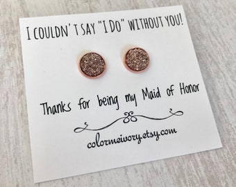 Maid Of Honor ADD ON EARRINGS