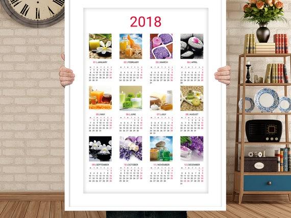 Corporate Wall Calendar Ideas : Year wall calender template kjp w digital file