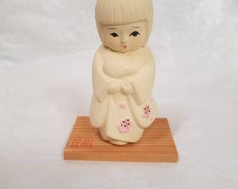 Vintage Japanese hakata doll, Japanese girl, porcelain doll, Japanese doll, hakata doll, Asian doll, bisque doll