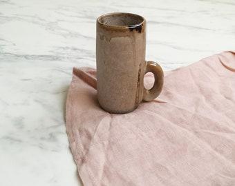 Vintage ceramic espresso cup | Brown coffee cup | Small ceramic espresso mug