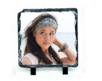 "Custome Photo slate rock plaque Size: 7.87""*7.87"""