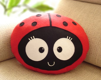 LADYBUG  CUSHION Wemba -Decorative plush pillow -