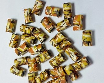 New 40 Fimo Polymer Clay Tube Beads