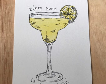 Every hour is happy hour print