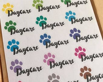 Dog Daycare Sheet of Planner Stickers - Dogs - Erin Condren, Plum Paper, Recollections, Kikki K, Gifts for Her, Crazy Dog Lady, 084