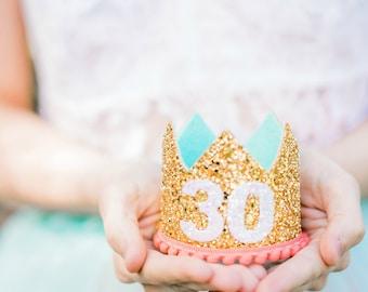 Flirty 30   30th Birthday For Her   Adult 30 Birthday Crown   30th Birthday Crown For Woman   30th Birthday Gift   Adult Crown 30
