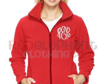 Monogrammed Full Zip Jacket, Monogrammed Fleece Jacket, Monogrammed Full Zip, Monogrammed Jacket, Personalized Jacket, Embroidered Jacket