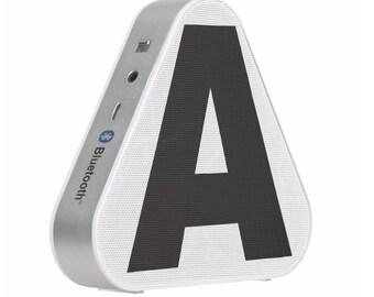 Personalized Gift Initial Monogram Pieladium Speaker Bluetooth Portable Speaker Music Computer Boombox Custom Gift Phone
