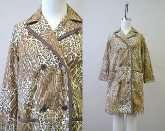 1960s Model's Coat Animal Print Housecoat
