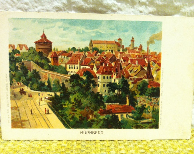 Antique German Nuremberg Postcard Photo Souvenir