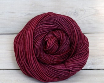 Calypso - Hand Dyed Superwash Merino Wool DK Light Worsted Yarn - Colorway: Sugar Plum