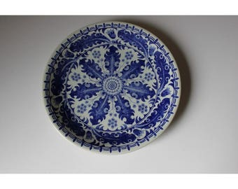 Old Dutch Delft Blue Wall Plate 1900 Dutch Design Holland Ceramic Porcelain Plate