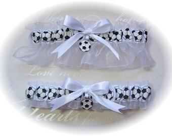Soccer Themed Wedding Garter Set