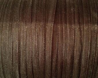 x20m Brown 4 mm organza Ribbon