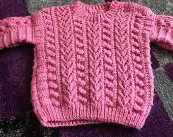 New Hand Knitted Baby Jumper 6/12 months