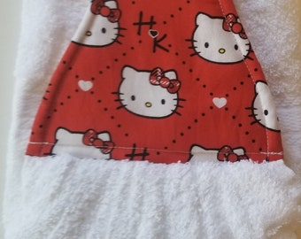Hanging Double Hand Towel-Hello Kitty
