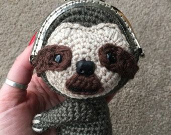 Sloth Coin Purse Crochet Pattern