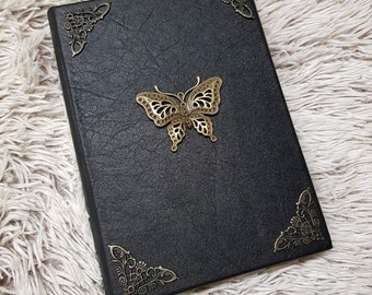handmade leather notebook The Butterfly
