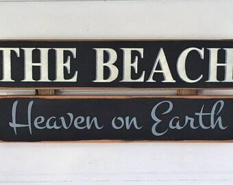 Beach Sign.  Beach House Decor. Beach House Sign.  Rustic Beach Sign. Beach Cottage Decor. Beach Wedding Gift. Beach Decor.