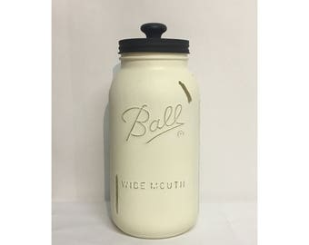 64oz Chalk Painted Ball Mason Jar Canister