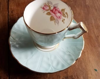 Aynsley Teacup and Saucer, England, Fine Bone China Teacup and Saucer