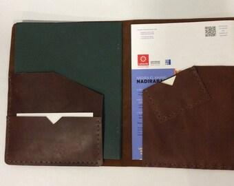Notepad Portfolio/Leather Legal Pad Holder/Brown Legal Pad Portfolio
