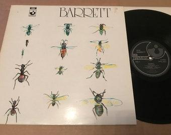 Vintage 1988 Vinyl LP - Syd Barrett - Barrett  UK Pressing  Harvest SHSP4007 - Vinyl Near Mint / Sleeve VG+ Pink Floyd