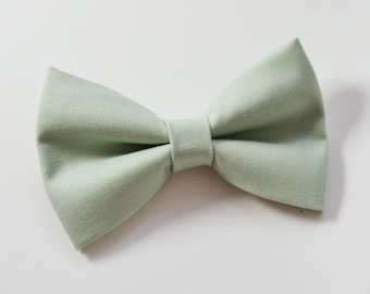 Pale Sage Green bow tie, baby bow tie, boys bow tie ,adult bow tie,groomsmen bow tie, men's bow tie, Green bow tie