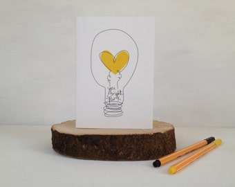 You Bright Spark Greetings Card-Graduate Card- Well Done Card- Exam Pass Card- Card For Student-New Job Card-Quirky Greetings Card-Uk Seller