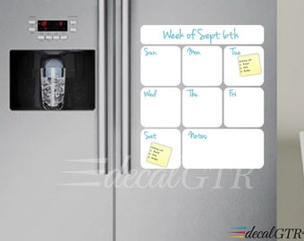 fridge weekly organizer fridge calendar dry erase decal