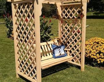 Pressure-Treated Pine Covington 4ft. Garden Arbor With Swing