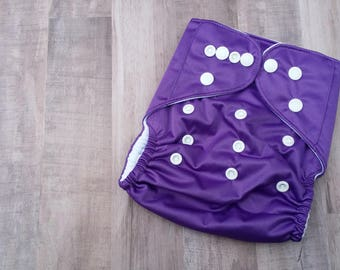 Purple Pocket Cloth Diaper Set