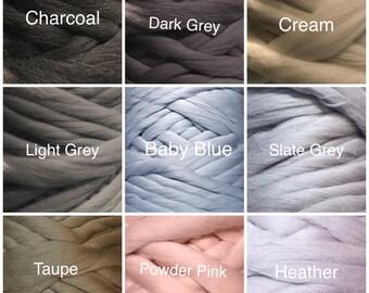 21.5 micron 100% Australian Merino Roving Wool Yarn for arm knitting