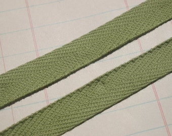 """Twill Tape Trim OLIVE GREEN - Cotton Sewing Craft Twill - 1/2"""" Wide - 6 Yards"""