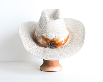 Vintage Woven Cowboy Hat