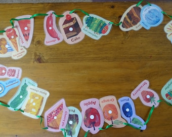 The Hungry Caterpillar the whole story bunting