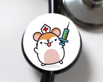 Kawaii Doctor Mouse----Stethoscope ID Tag