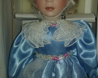 "Paradise Galleries Treasury Collection 14"" Porcelain Doll ""Angel Of Peace"" ~ NIB / COA"