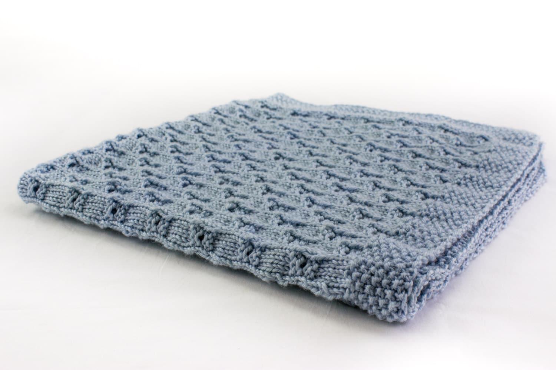 KNITTING PATTERN Baby Blanket Knitting Pattern 8 ply Yarn