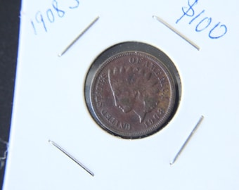 1908 S indian head coin