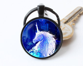 Unicorn key chain Unicorn keyring Unicorn gift Unicorn jewellery Unicorn pendant Fantasy style Fairytale keyring Unicorn art Unicorn horse