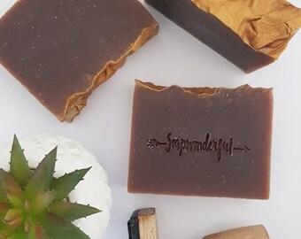 Sandalwood Vanilla Coconut Cream Cold Process Soap Bar