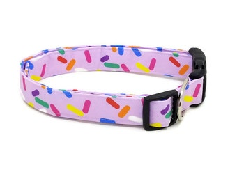 Candy Sprinkles on Lilac Purple Dog Collar