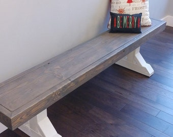 Farm House Bench, Matching Bench, Wrapped Bench, Entry Way Bench, Bench