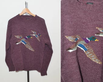 Vtg 90s Duck Goose South Channel Sweater | Vintage Duck Sweater